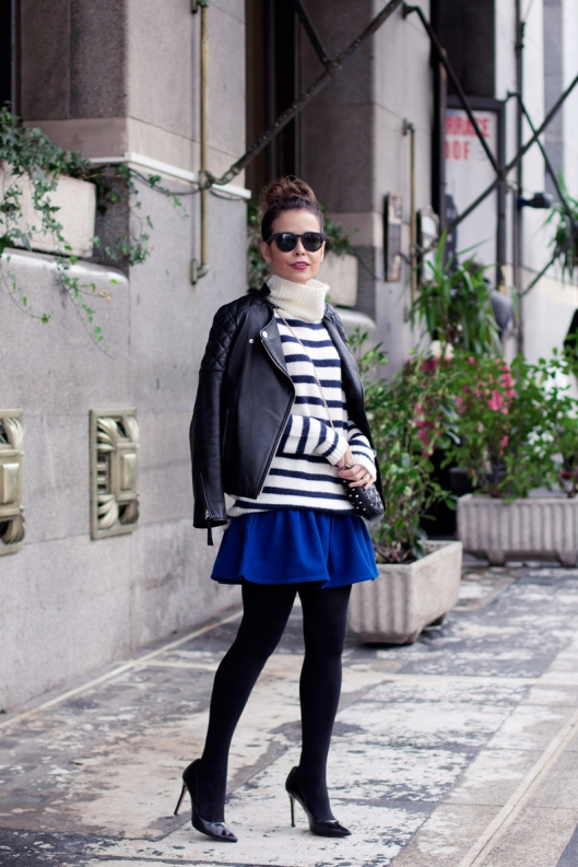 Electric_Blue_Skirt-ASOS-striped_Jumper-Street_Style-Outfit-
